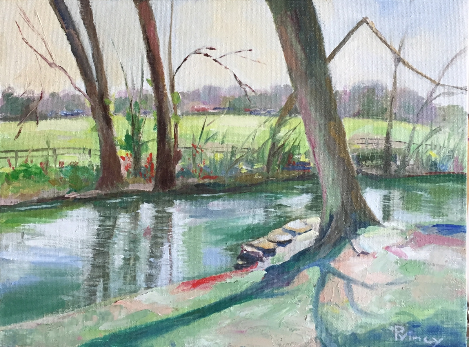 Princy Kroon - Sunny Afternoon by the River - Green