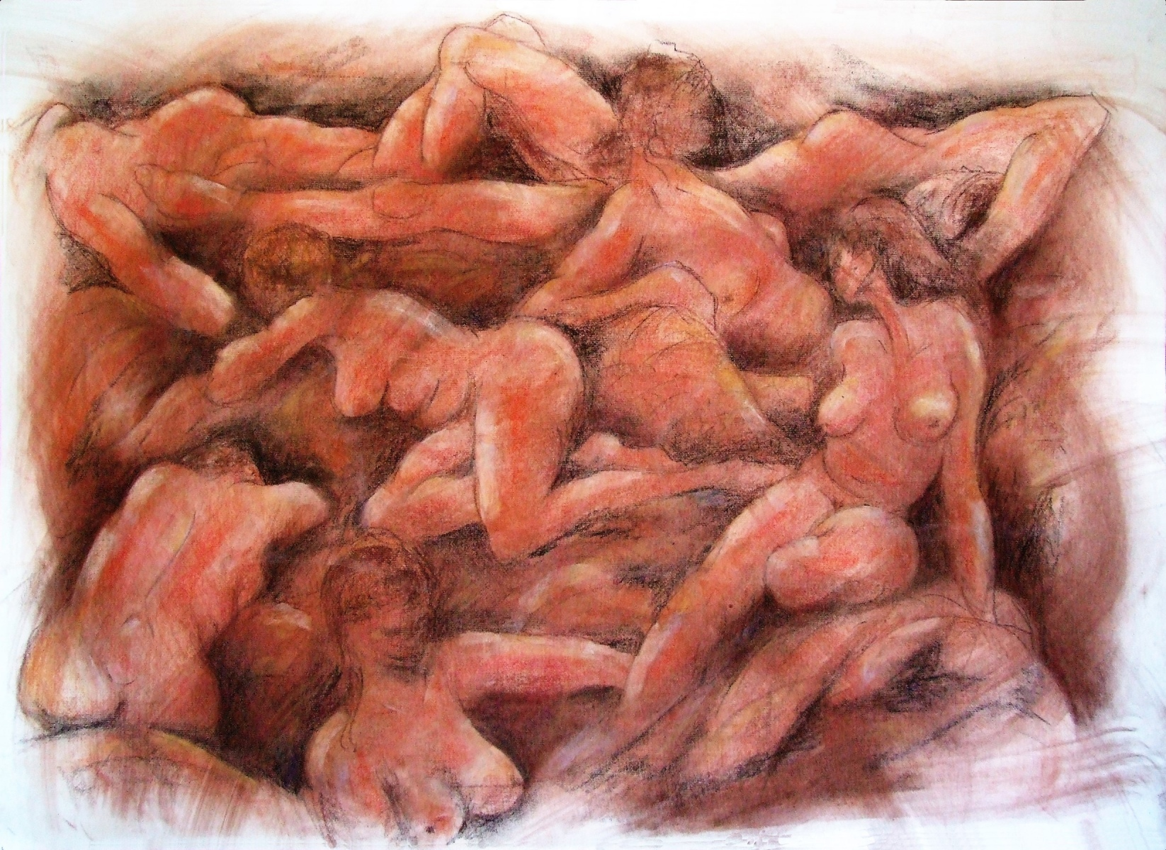 Ray Jones - Nude Group - Ochres