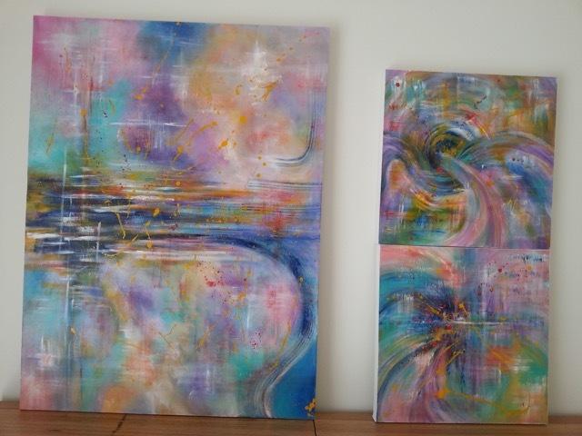Natalie Doubrovski - Purple Twist (triptych)