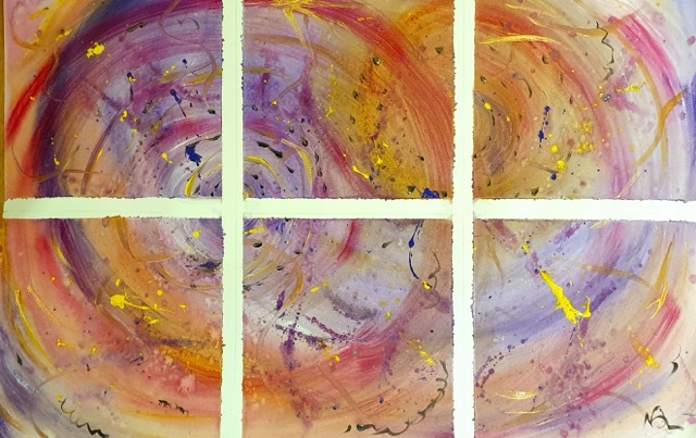 Natalie Doubrovski - Exercise with left over acrylic colours