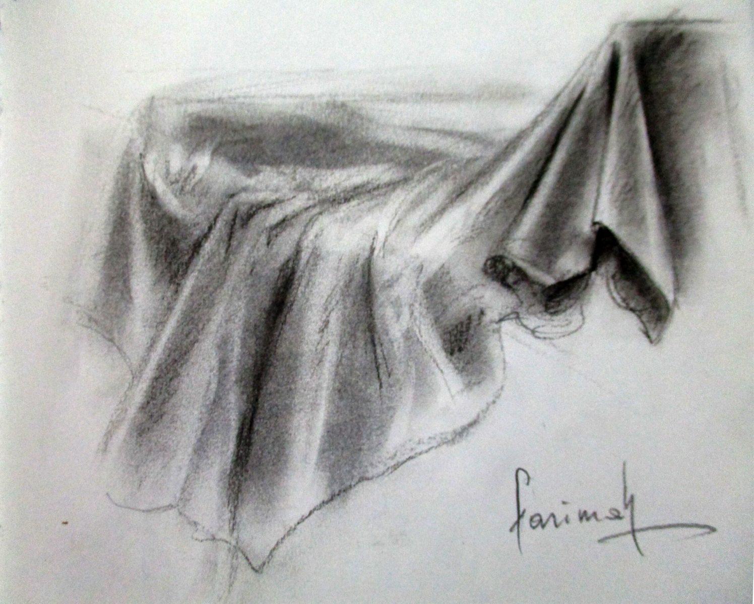 Farimah Eshraghi - Drape I - Charcoal