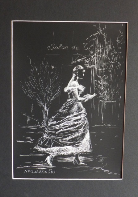 Natalie Doubrovski - Parisian Girl - Scratch Art