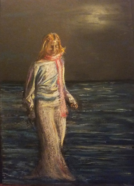 Natalie Doubrovski - In a Moonlight - Pastel