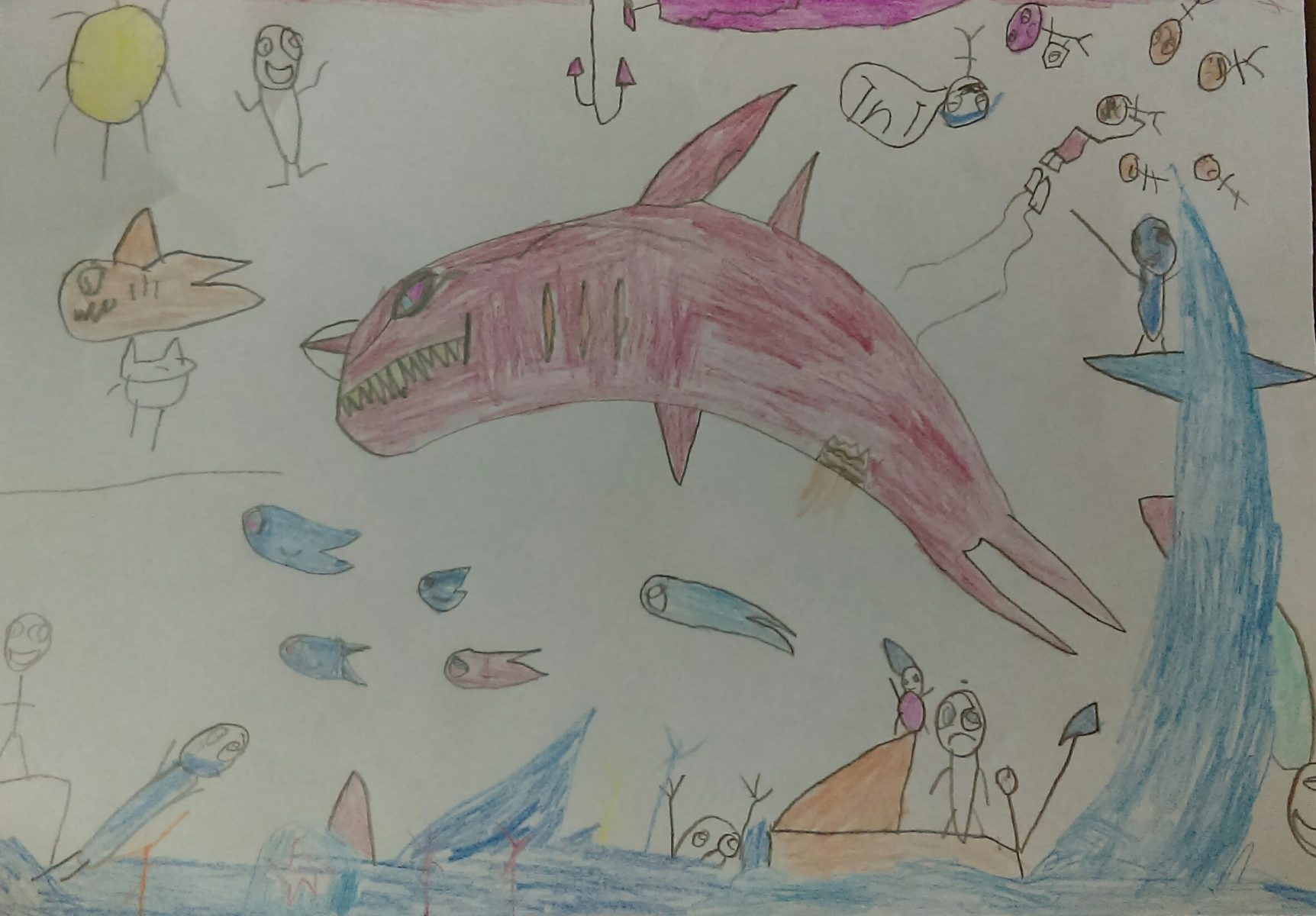 Liz's great newphew - Age 14 - Shark