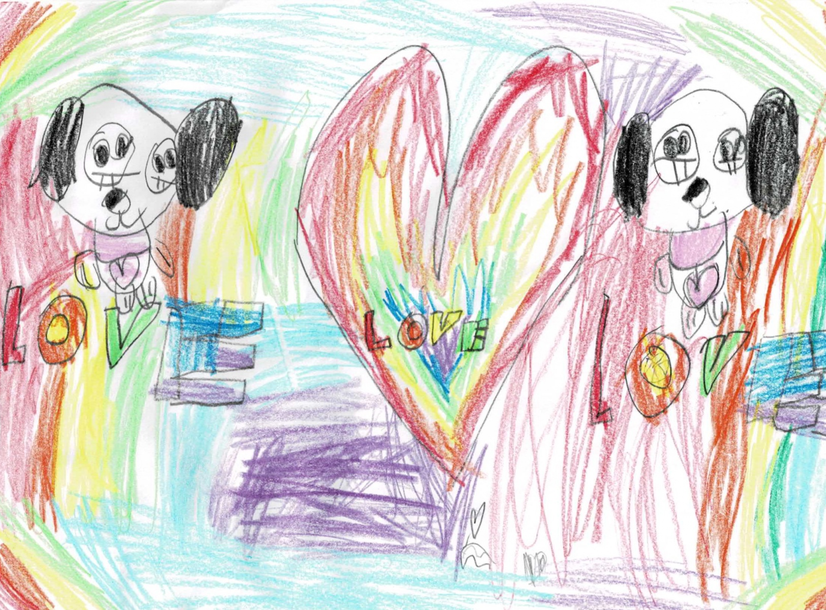 Genevieve - Age 5 - I love my Dog