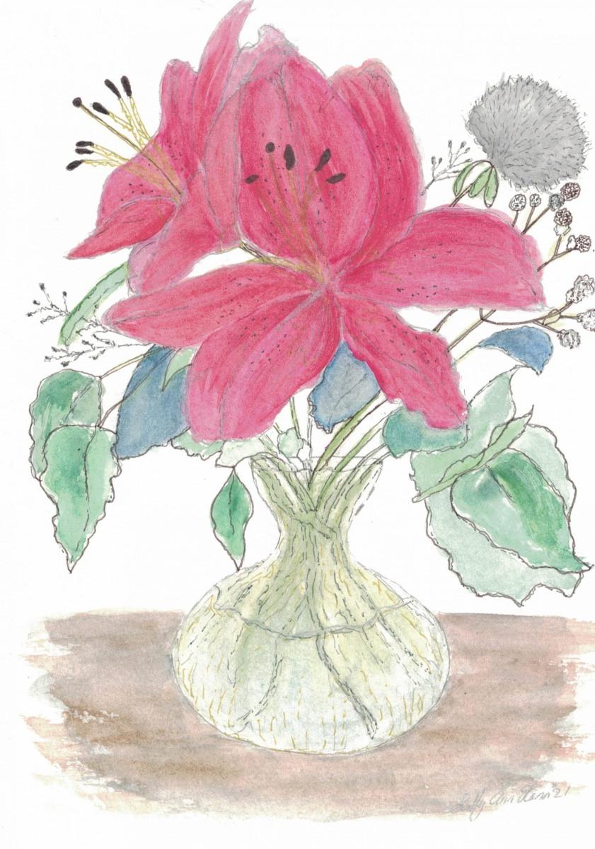 Red Flowers -  - Sally Ann Glenn