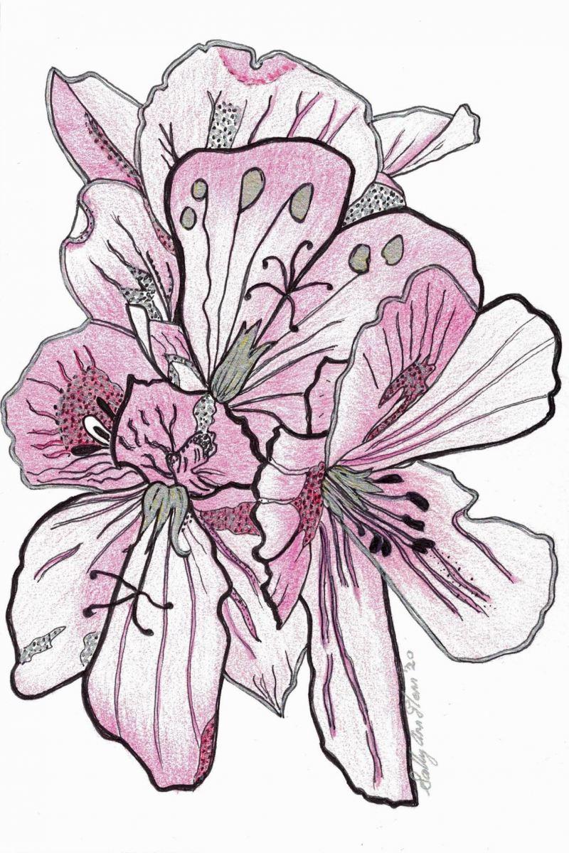 Sally Ann Glenn - Pink Spring Flowers