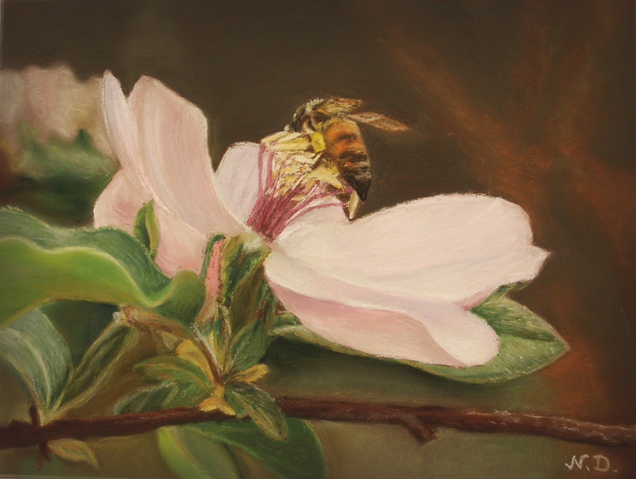 Working-bee-pastel