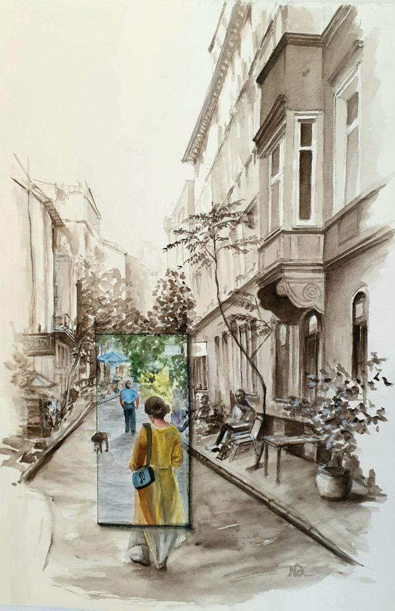 Natalie Doubrovski - On a Street of Istanbul