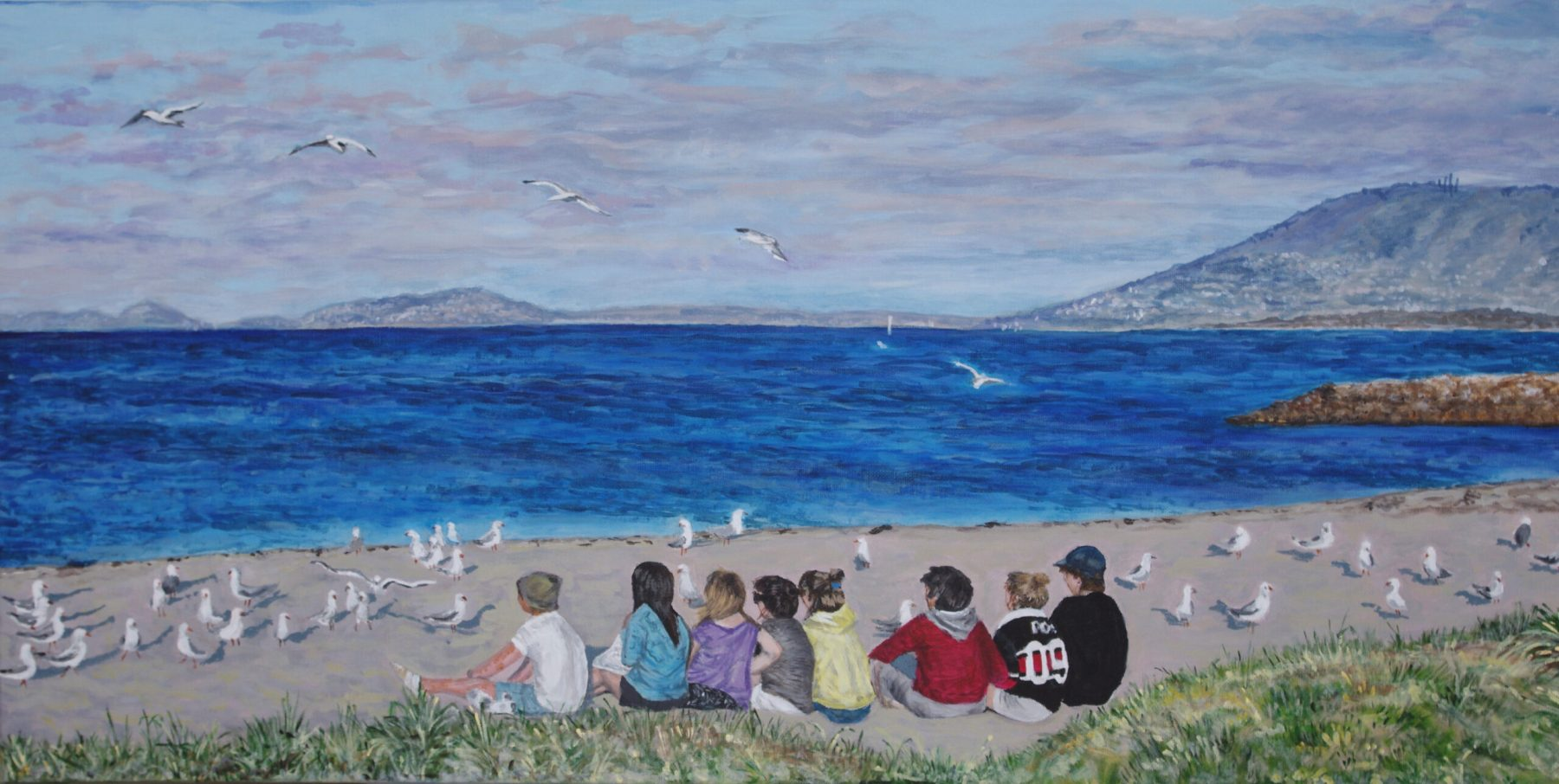 Natalie Doubrovski - Kids and Seagulls