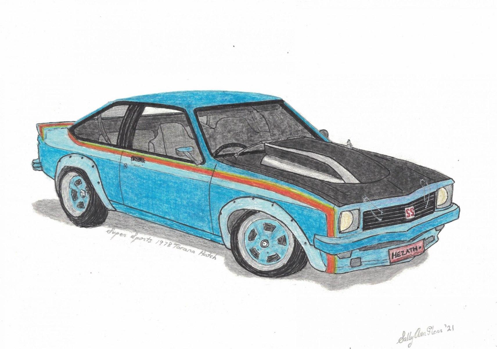 Super Sports 1978 Torana Hatch - Sally Ann Glenn