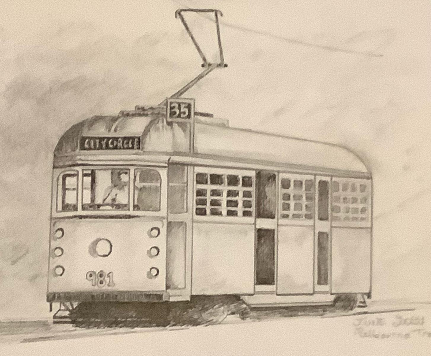 Melbourne Tram - Shirley Melissas