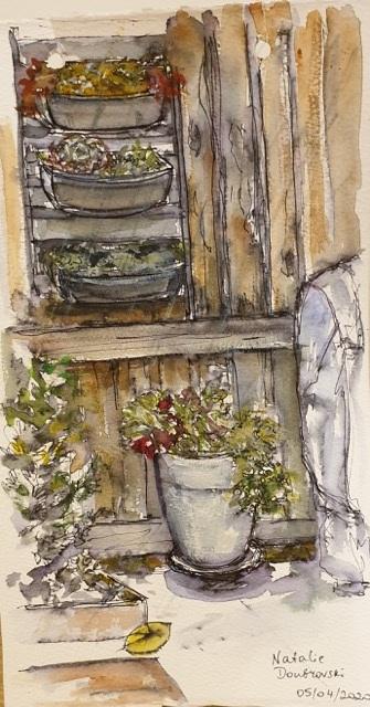 Natalie Doubrovski - View from my Kitchen Window