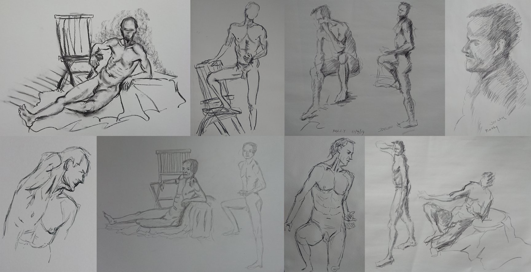 Our next Untutored Life Drawing session is on 11 September
